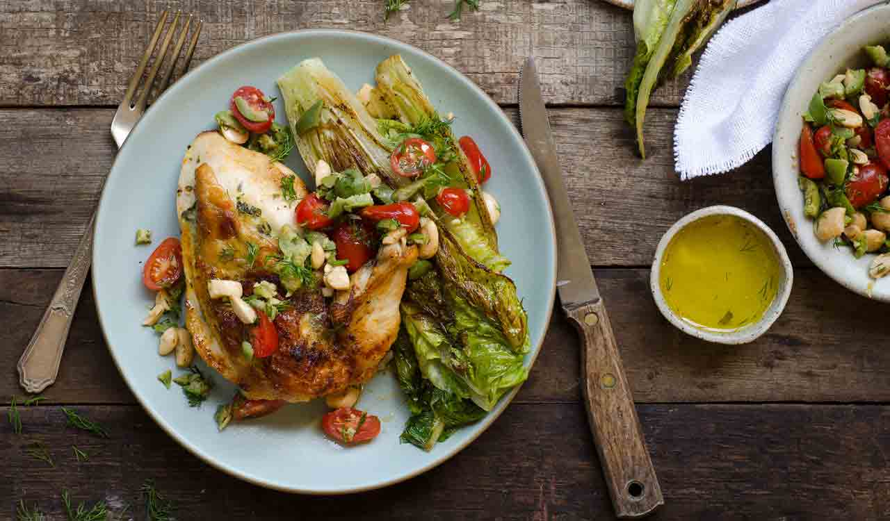 roasted-chicken-grilled-romaine-olive-tapenade