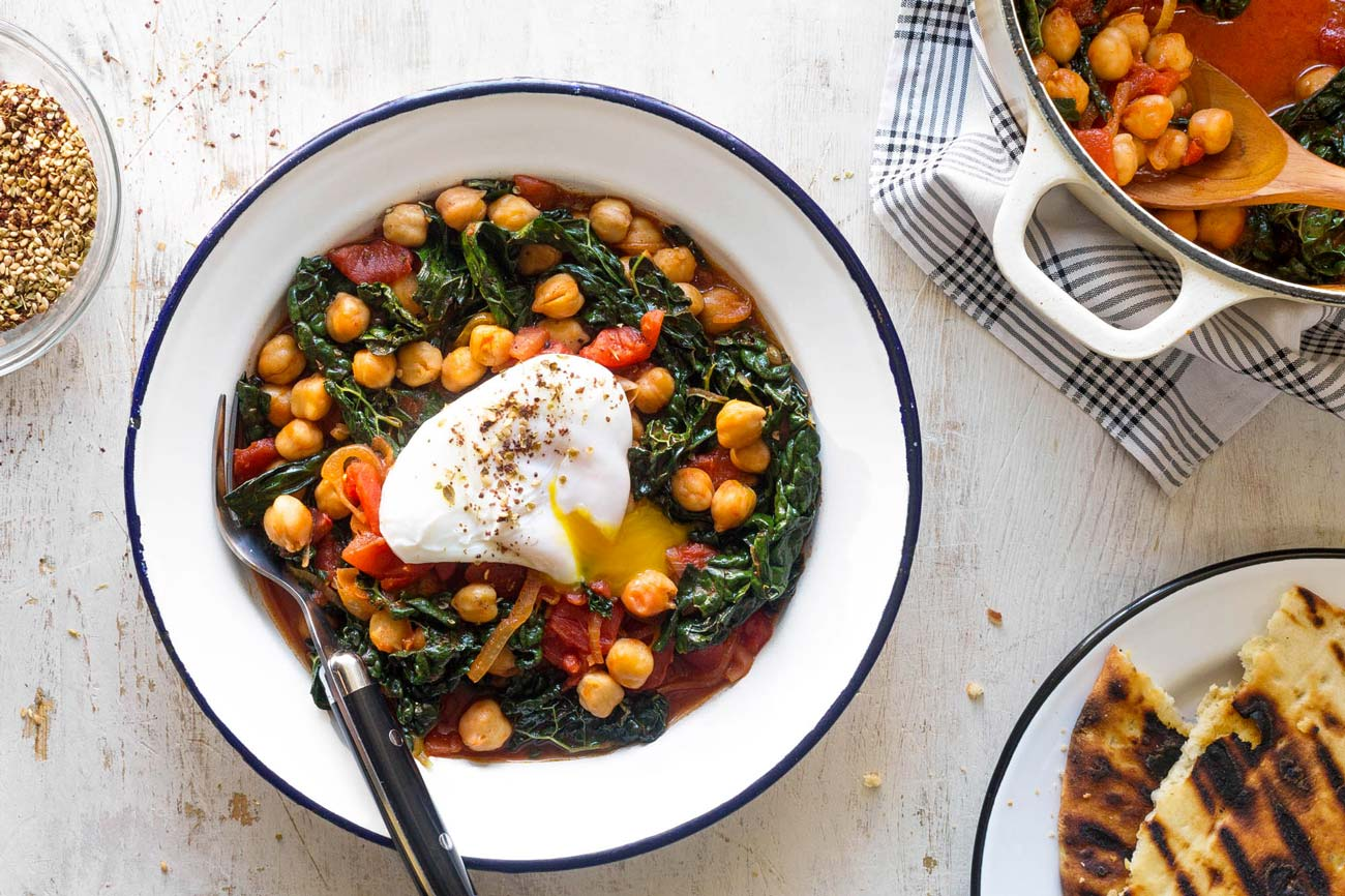 Vegetarian meal plan healthy foods delicious recipes sun basket chickpeas with kale and egg forumfinder Images